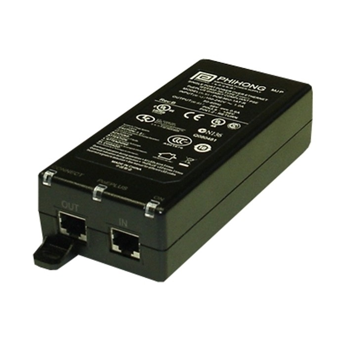 POE36D-1AT  PoE+ Midspan, 1 Port, 33,6W, Gigabit, 36-72VDC, -20°
