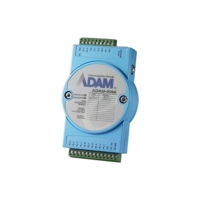 ADAM-6066 BE  6/6-Kanal E/A-Power-Relais Modul, Modbus TCP, für