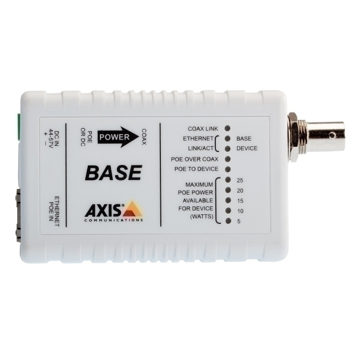 AXIS T8641 POE+ OVER COAX BASE Medienkonverter, RJ45, BNC, Ether
