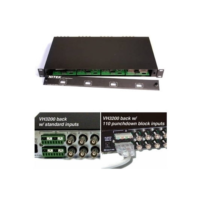 "VH3200 19"" Rack Mount Chassis, 32 Port , Video Hub, 24VAC, 1HE"