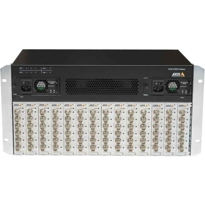 "AXIS Q7920 Video Encoder Rack, 19""/5HE, 14 Hotswap Einschübe, RS"