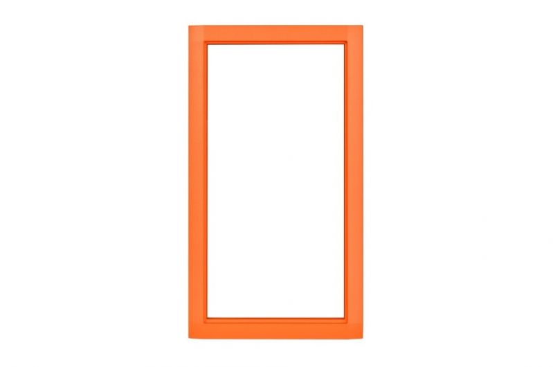 2N IP Safety Metal Frame Abdeckrahmen, für 2N IP Safety, orange