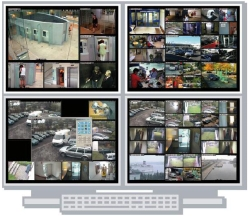 CAMCONTROL MV - Video-Wall-Software, bis 64 IP-Streams 4 Monitor
